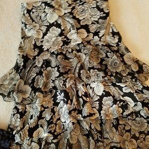 Silk &sheer skirt
